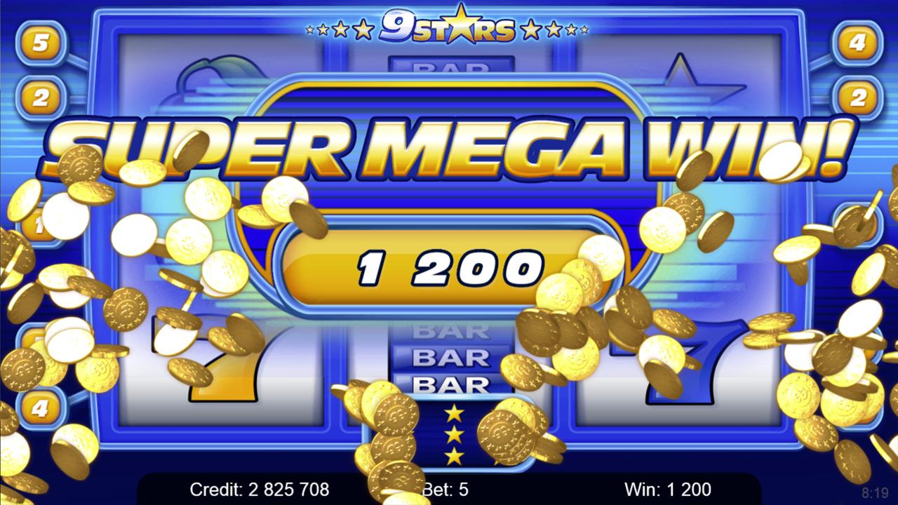 9 STARS Super mega win