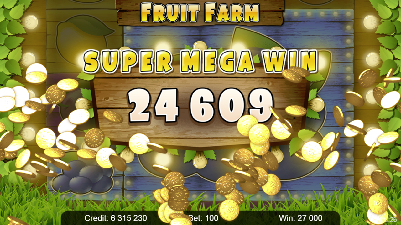 FRUIT FARM Super mega win
