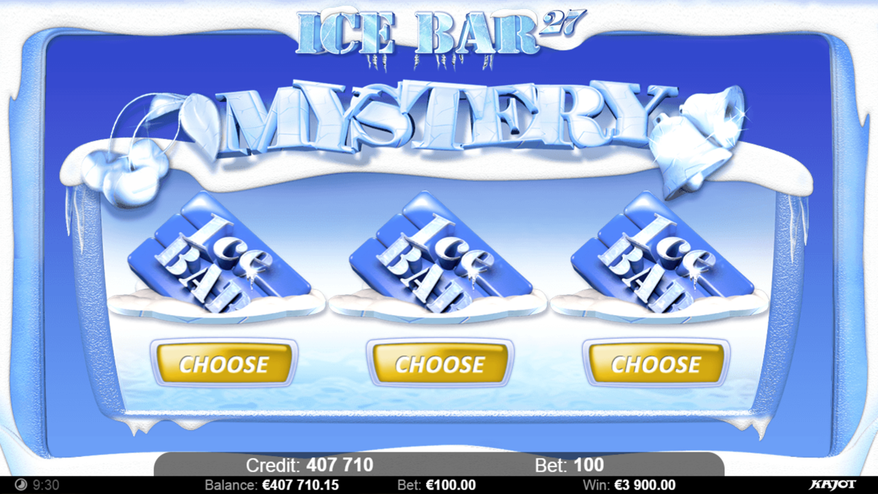ICE BAR 27 Choose your mystery A