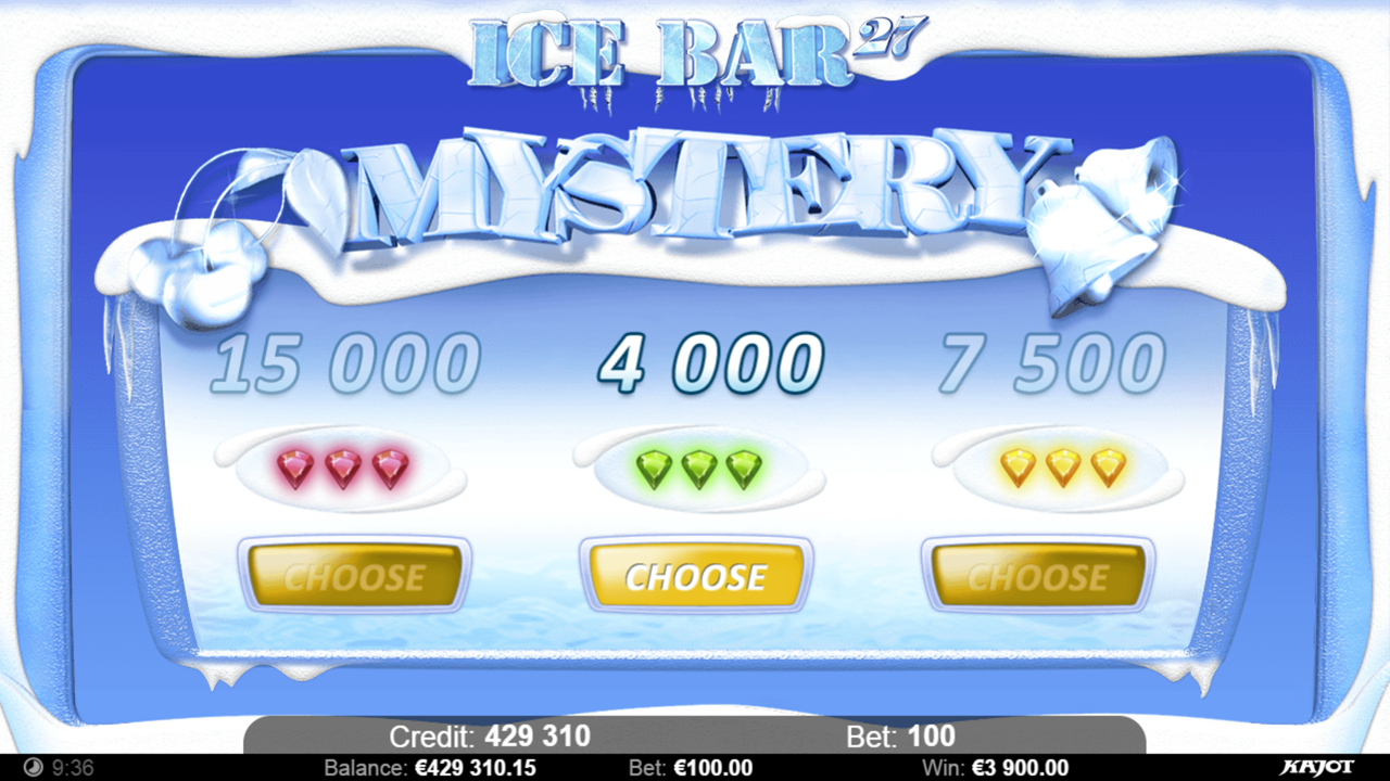 ICE BAR 27 Choose your mystery B