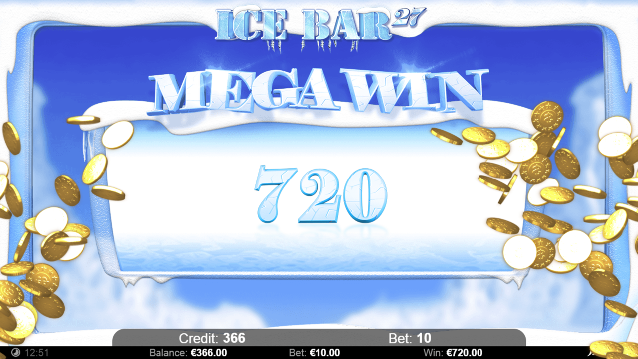 ICE BAR 27 Mega win