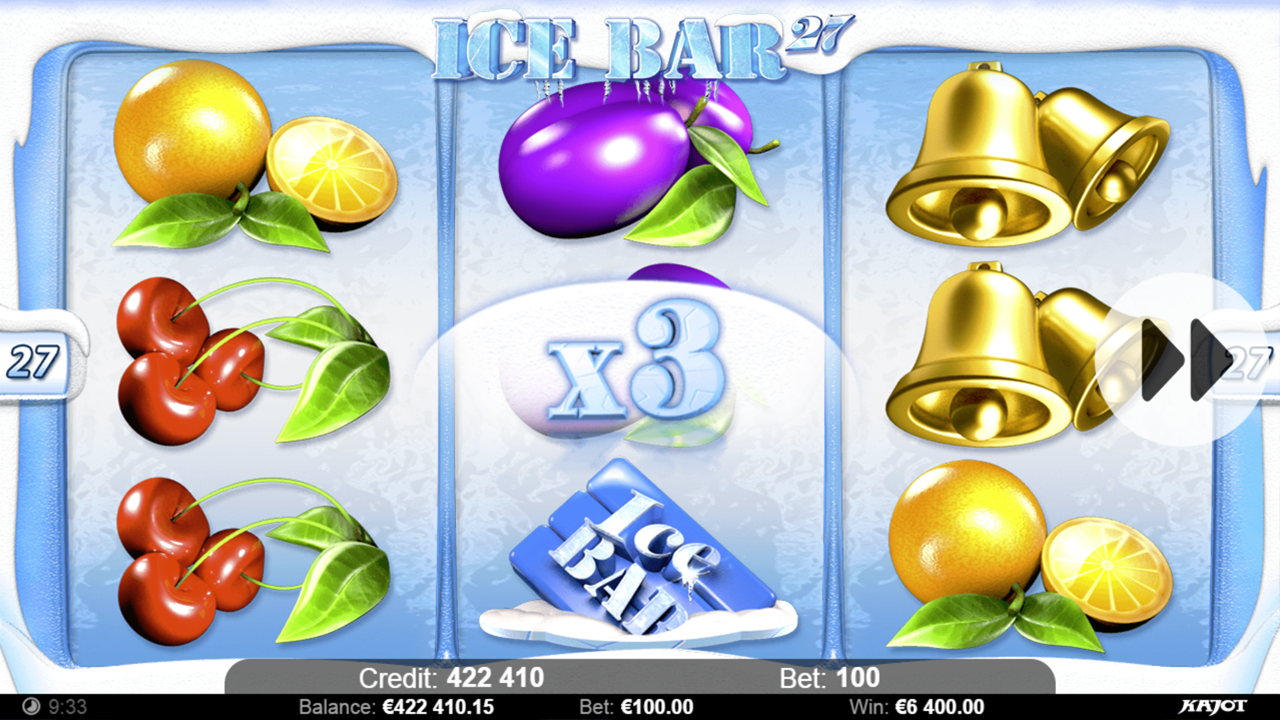 ICE BAR 27 Win x3