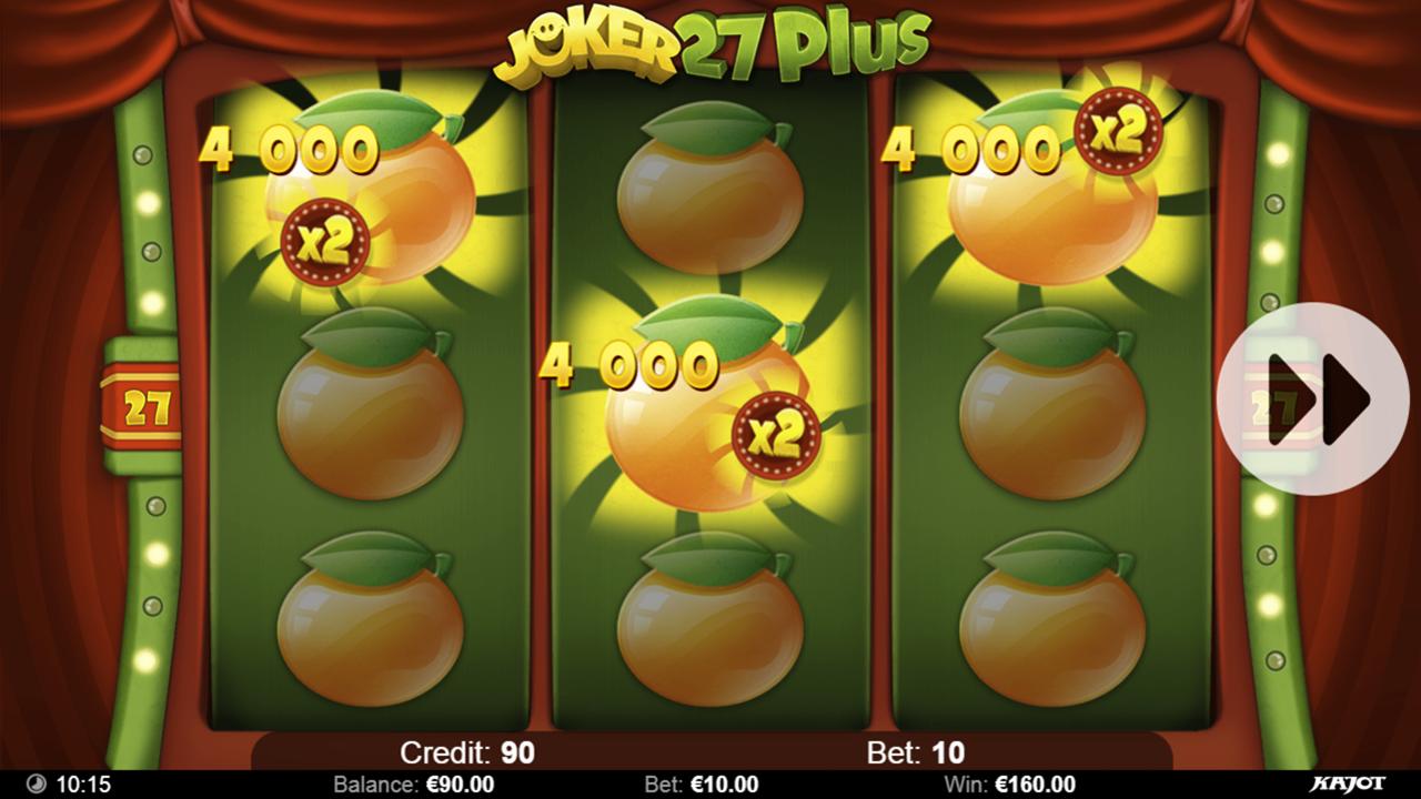 JOKER 27 PLUS Bonus win