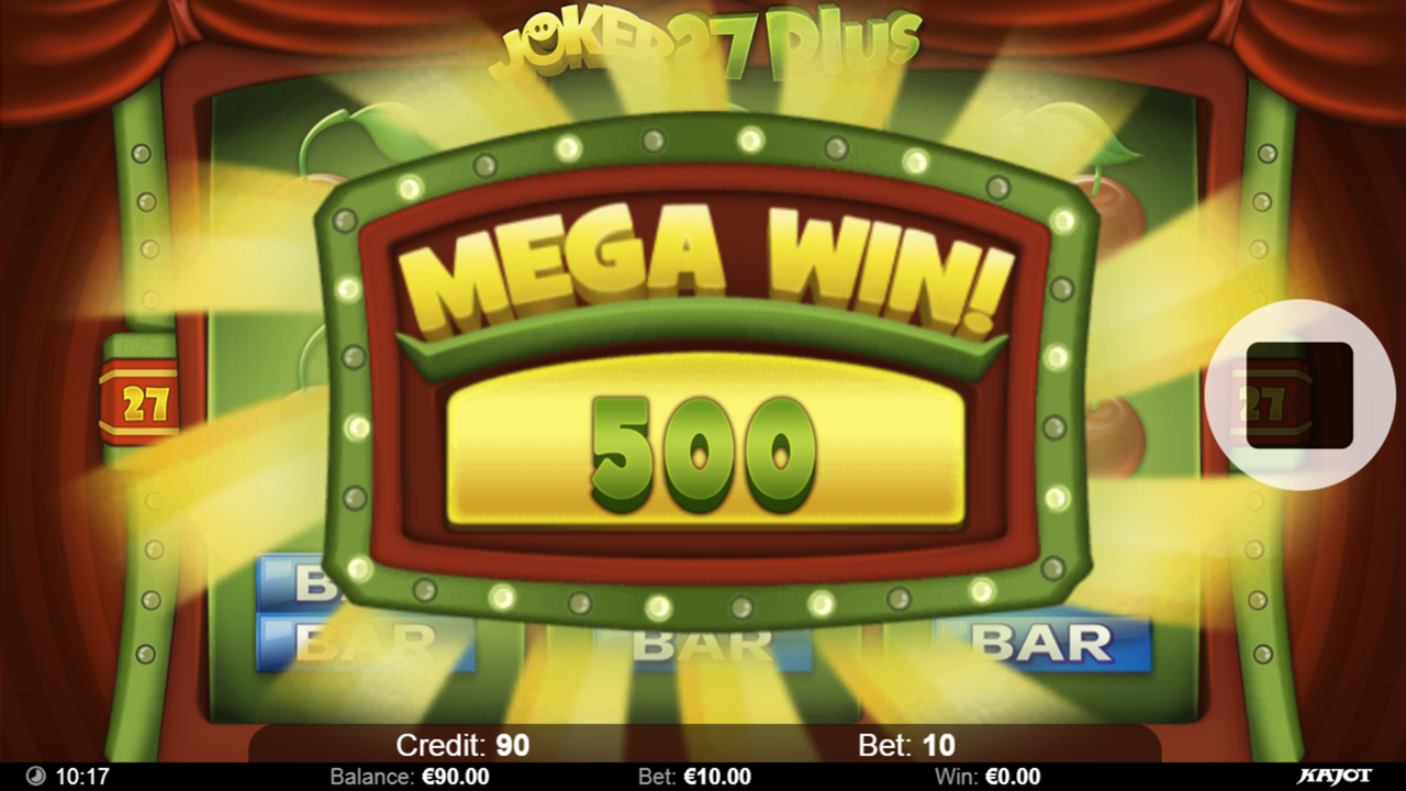 JOKER 27 PLUS Mega win