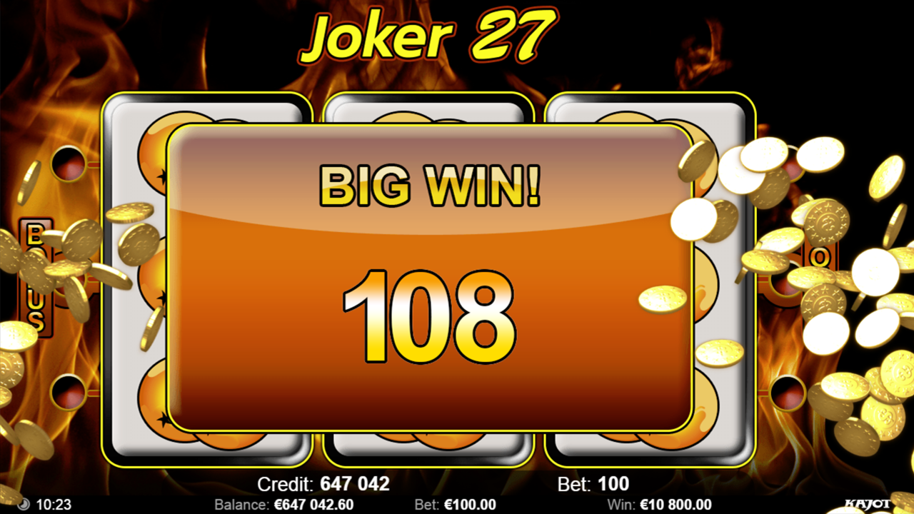 JOKER 27 Big win