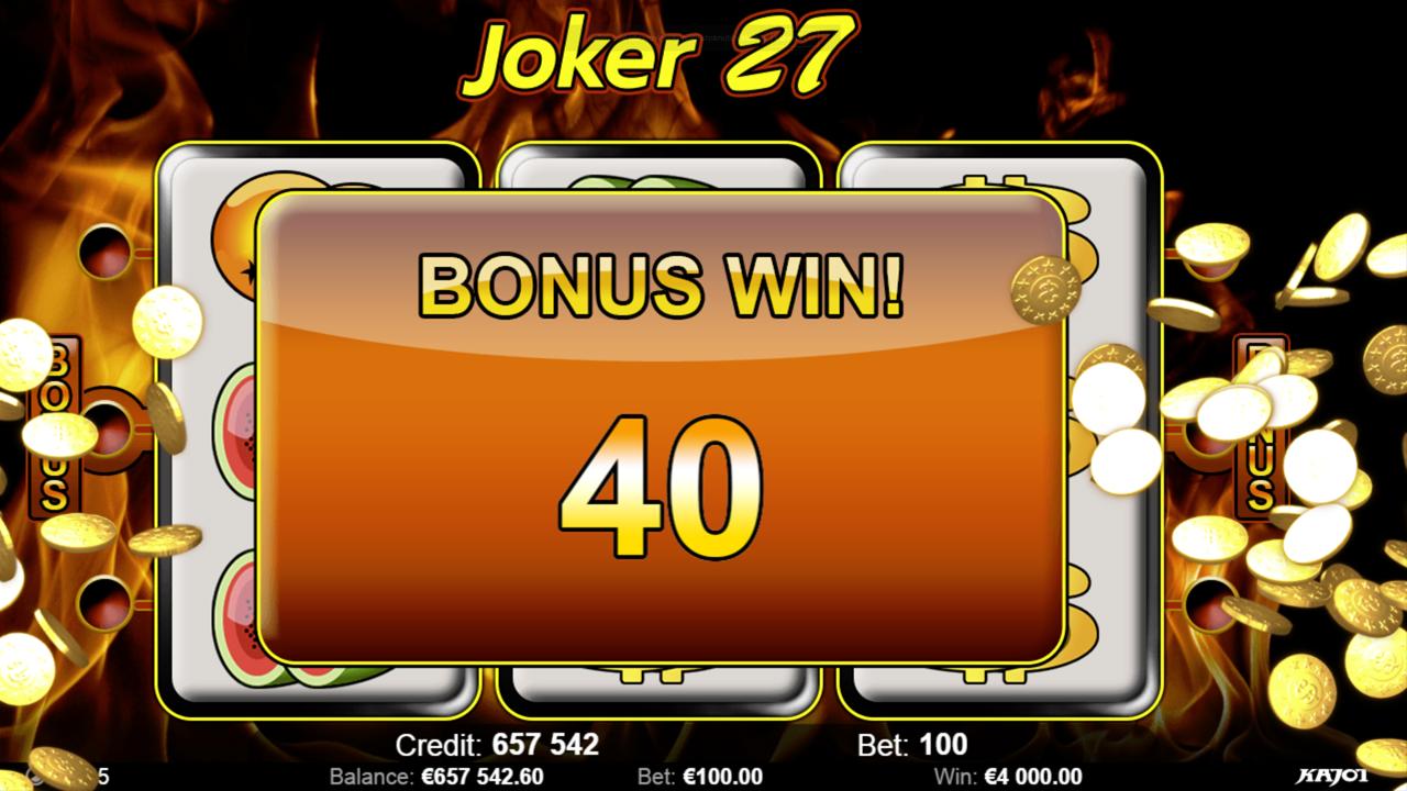 JOKER 27 Bonus win