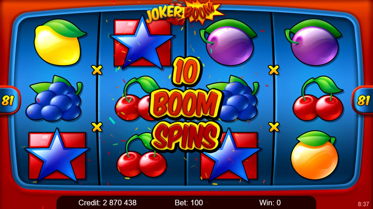 Joker Boom play demo here on Kajot Games
