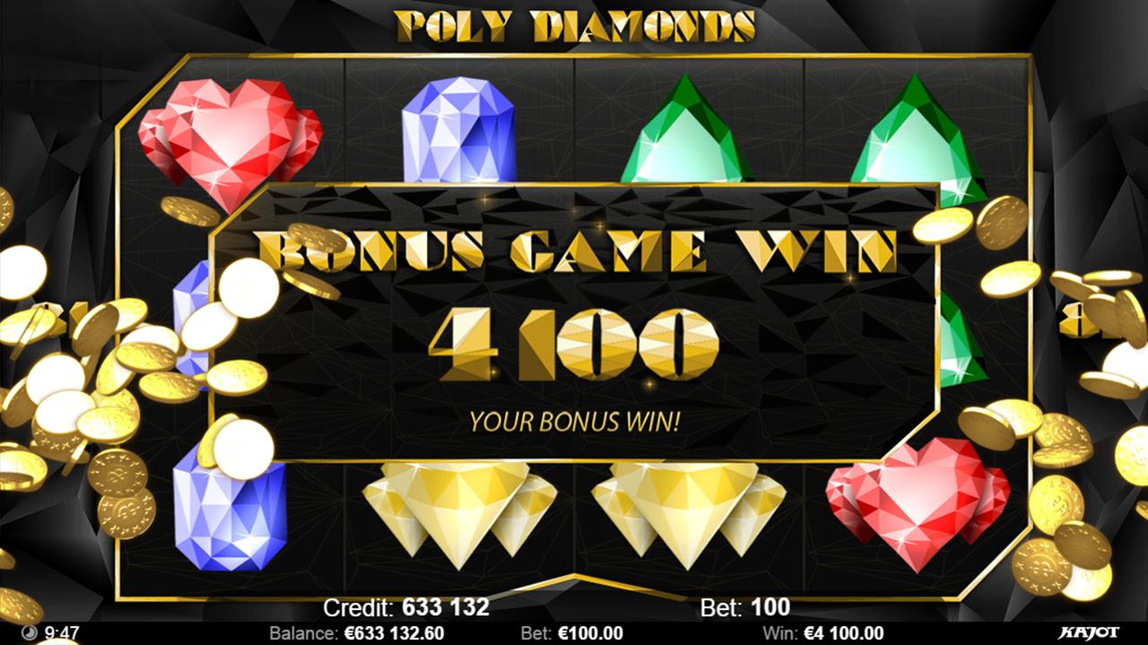 POLY DIAMONDS Bonus game win
