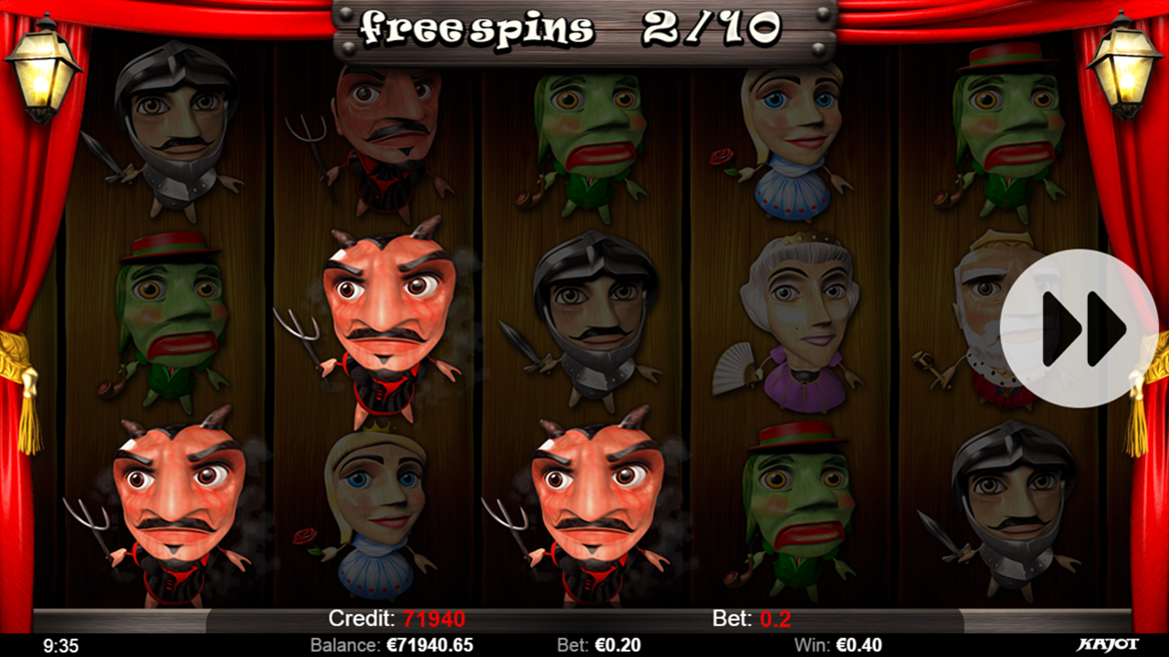 PUPPET SHOW Free spins win