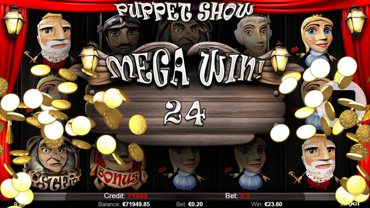 PUPPET SHOW Mega win