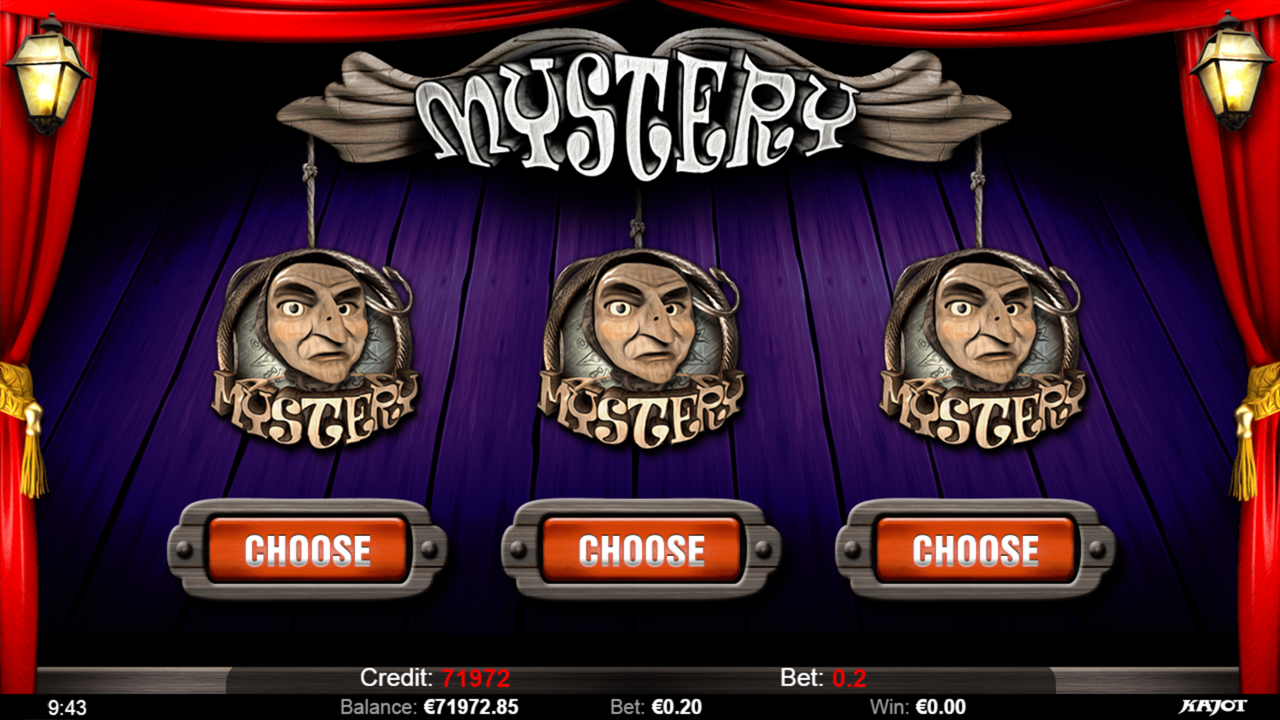 PUPPET SHOW Mystery choose