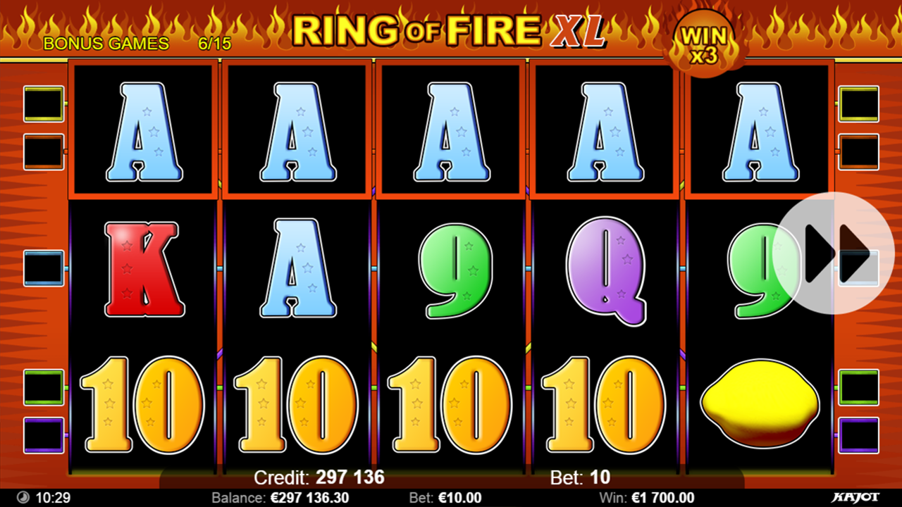 RING OF FIRE Bonus game