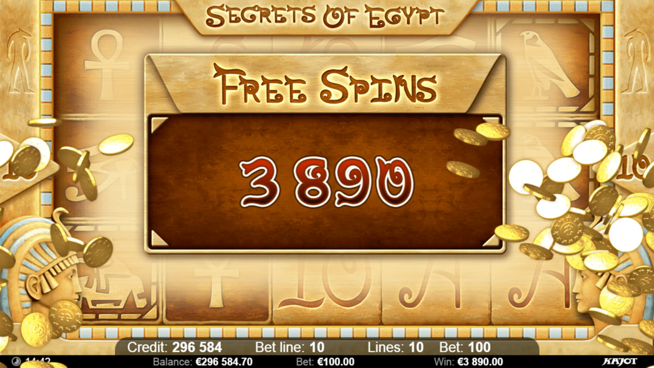 SECRETS OF EGYPT Free spins win