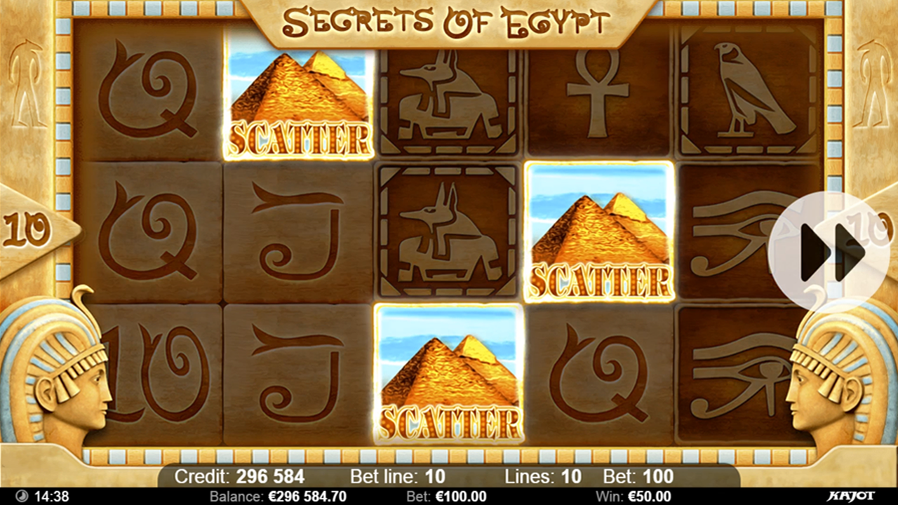 SECRETS OF EGYPT Scatter