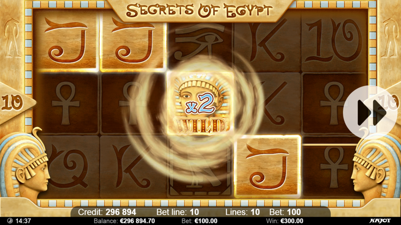 SECRETS OF EGYPT Wild x2