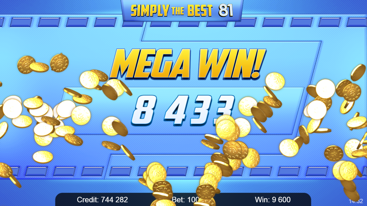 SIMPLY THE BEST 81 Mega win
