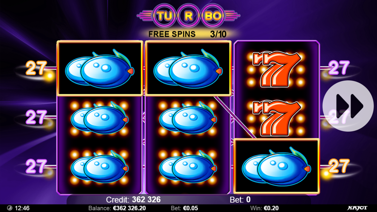 TURBO 27 Free spins win