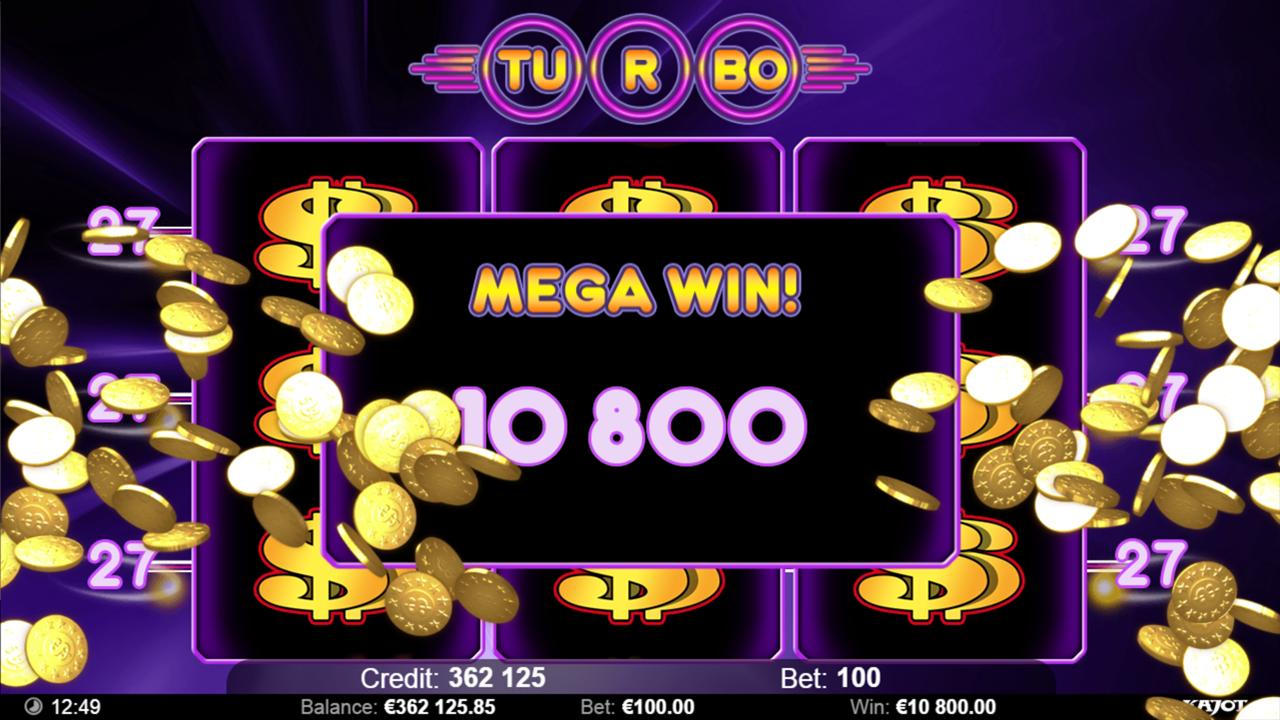 TURBO 27 Mega win