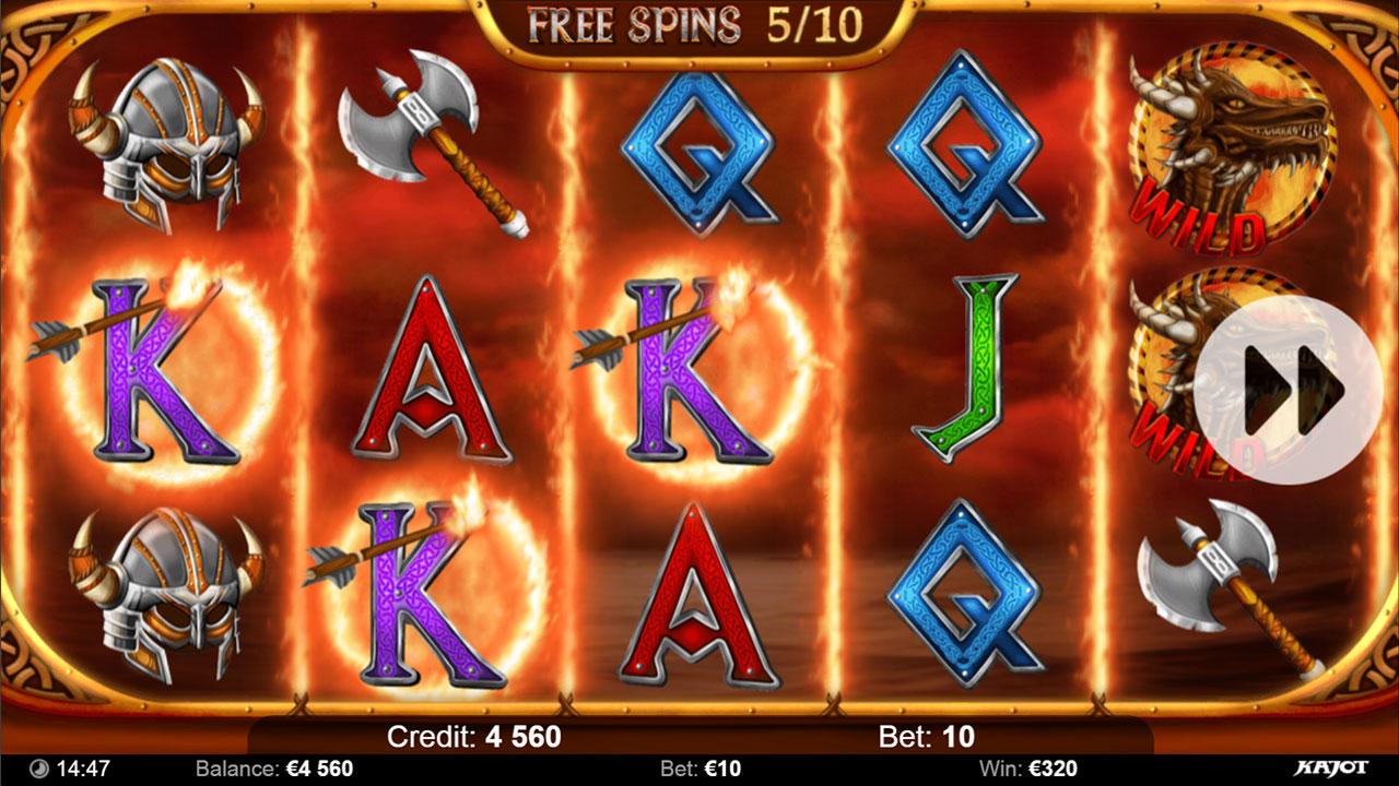 VIKINGS Free spin win
