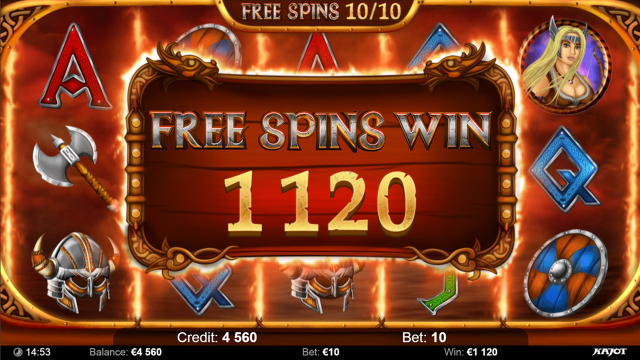 VIKINGS Free spin win all