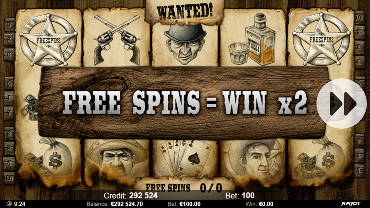 WANTED Freespins win x2
