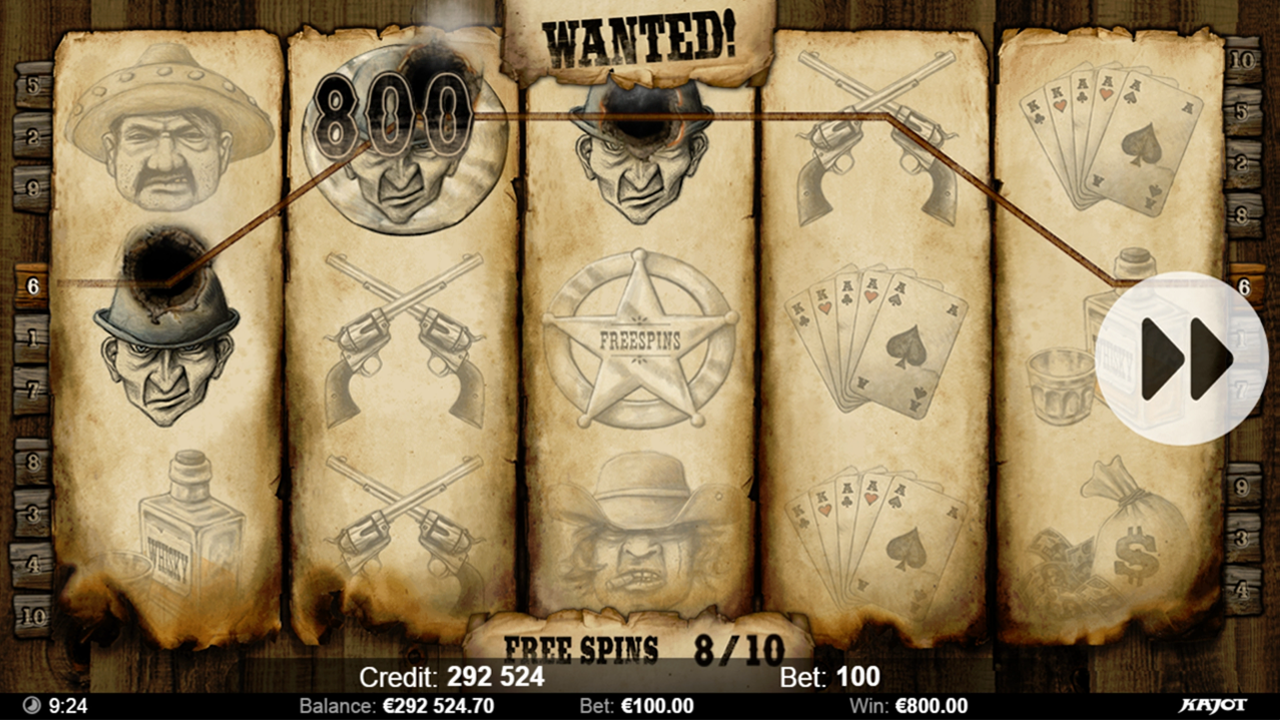 WANTED Freespins win