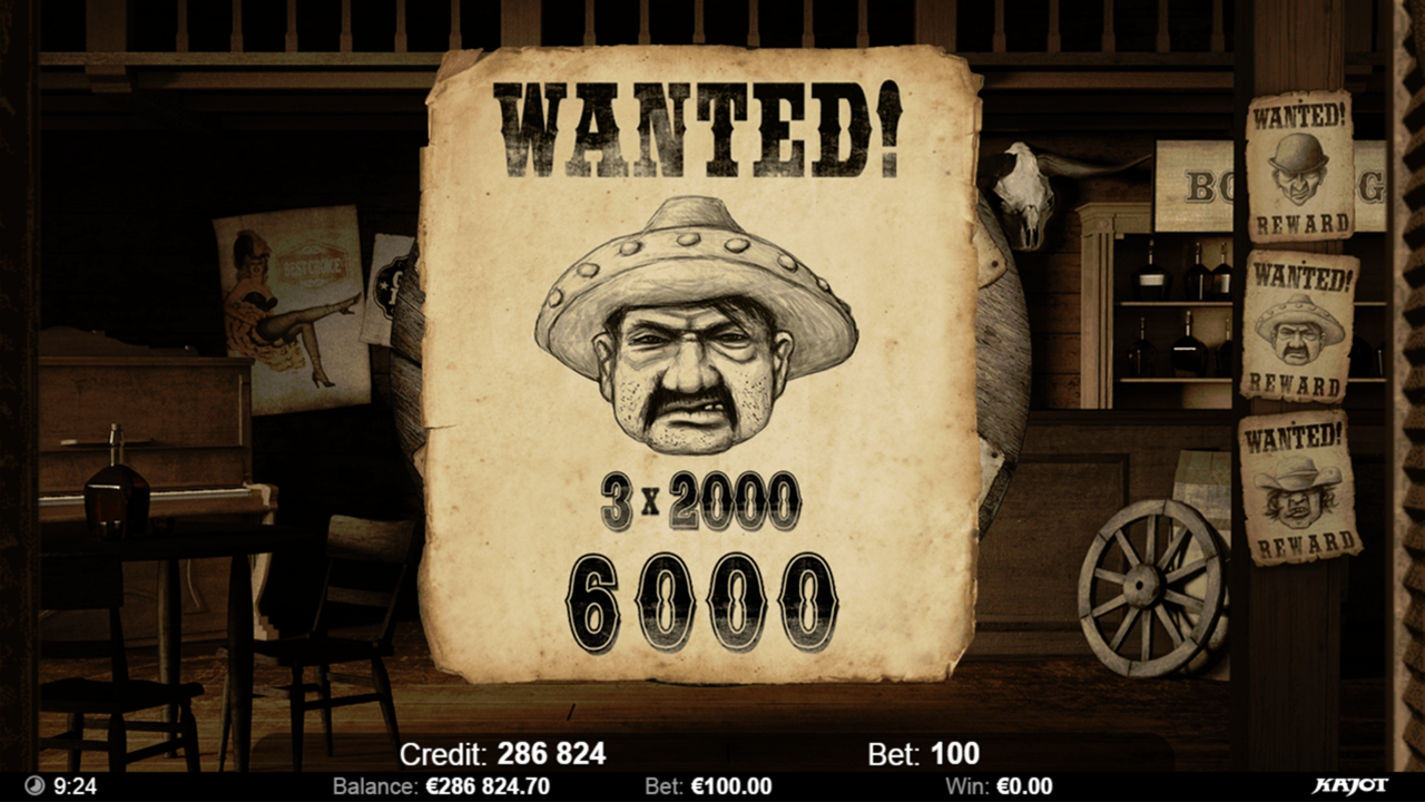 WANTED Saloon win